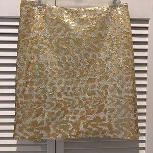 Gold Sequin Banana Republic Skirt 4